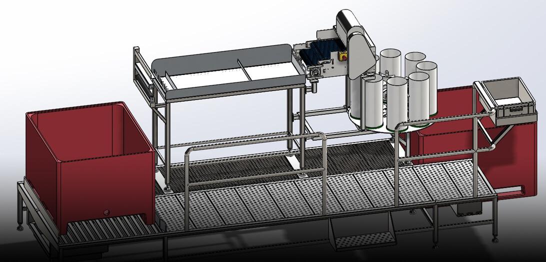 Nuevo proyecto en DIBTEC 3D: Máquina Saladora Industrial
